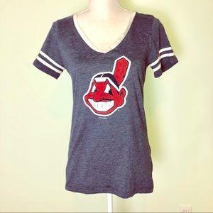 🆕 MLB/5th & Ocean Cleveland Indians T-Shirt
